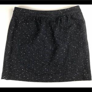 Ann Taylor LOFT Metallic Tweed Mini Skirt Sz 12